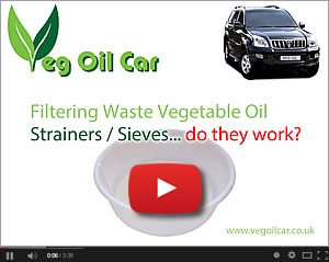 Cleaning / Straining / Sieving Waste Veg Oil WVO - do they work?