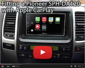 Fitting a Pioneer SPH-DA120 with Apple CarPlay - my video on YouTube