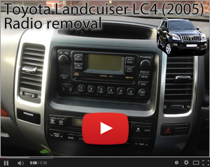 Toyota Land Cruiser Radio Removal - my video on YouTube